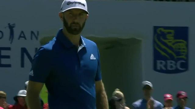 Dustin Johnson sinks 12-footer for birdie at RBC Canadian