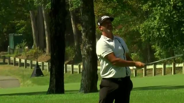 Scott Piercy nearly holes out at The Greenbrier