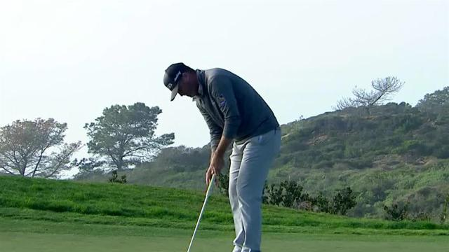 Ryan Palmer gets up-and-down for birdie at Farmers