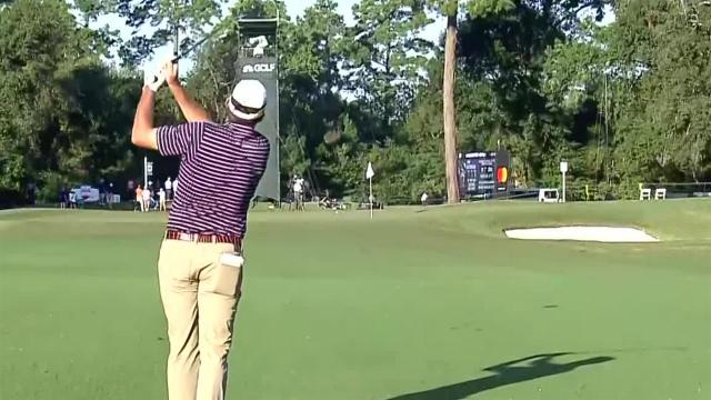 Jim Herman's approach inside 5 feet leads to birdie at Houston Open