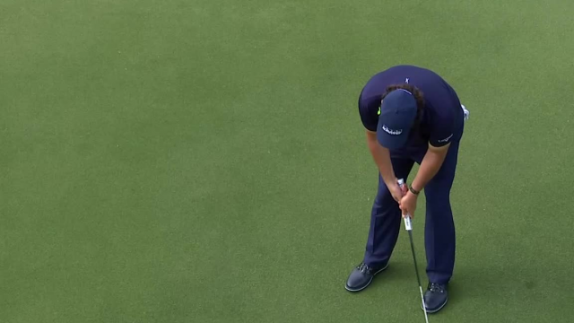 Phil Mickelson's lengthy birdie putt on No. 16 at Wells Fargo