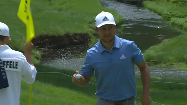 Xander Schauffele's tee shot to 7 feet sets up birdie at the Memorial