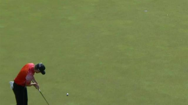 Austin Cook's lengthy birdie putt on No. 15 at Mayakoba