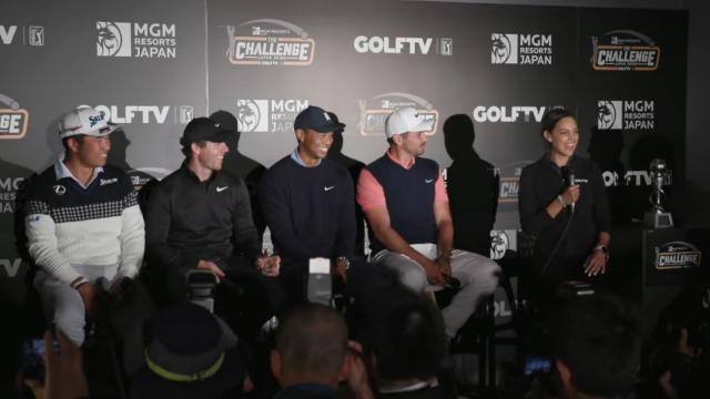 News conference after MGM Resorts The Challenge: Japan Skins