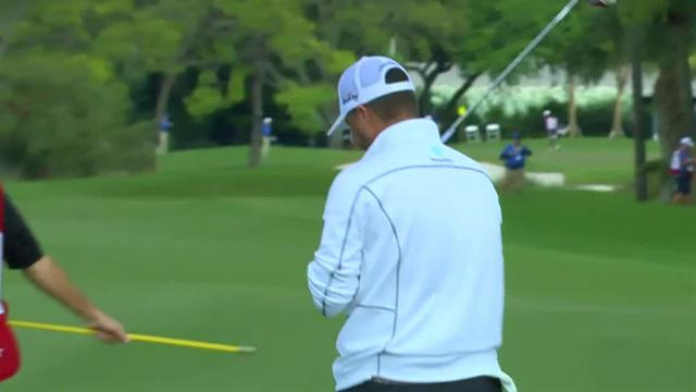 Ryan Palmer reaches in two to set up birdie at Honda
