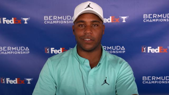 "Harold Varner III's stance on ""hoodies"" before the Bermuda Championship"
