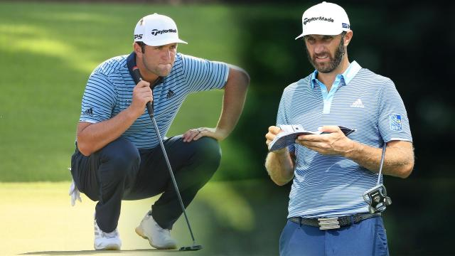 Dustin Johnson, Jon Rahm go birdie-for-birdie at TOUR Championship