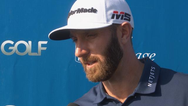 Dustin Johnson interview after Round 1 of RBC Heritage