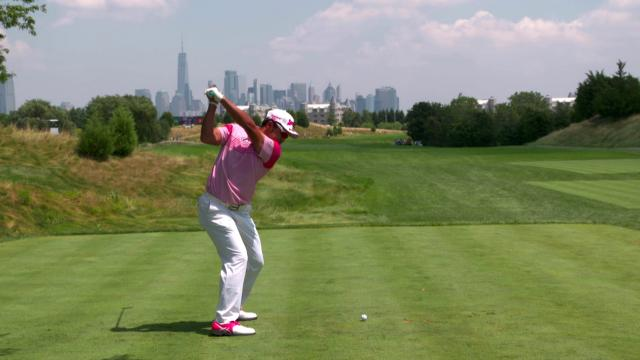 Hideki Matsuyama's pre-round warm-up routine