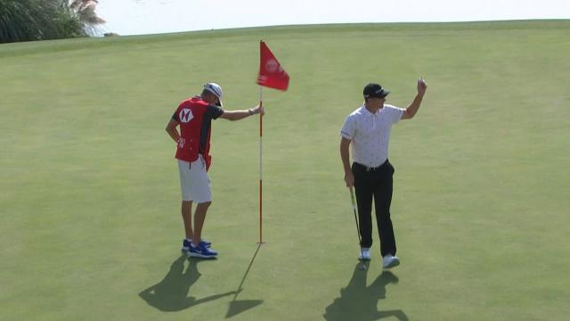 Justin Rose's eagle on No. 18 at WGC-HSBC Champions