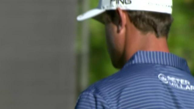 Harris English's lengthy birdie putt at The Greenbrier