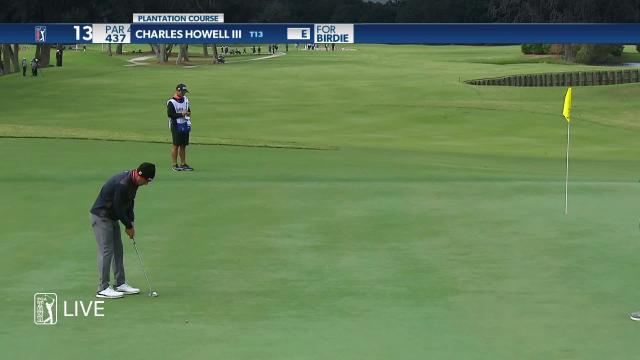 Charles Howell III birdies No. 13 in Round 1 at The RSM Classic