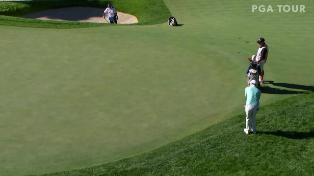 Matthew Fitzpatrick gets up-and-down for birdie at THE CJ CUP