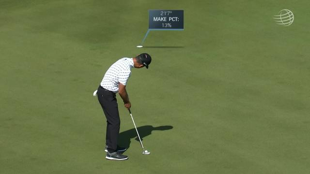 Kevin Na sinks a 21-foot birdie on No. 17 in Round 3 at WGC-Dell Match Play