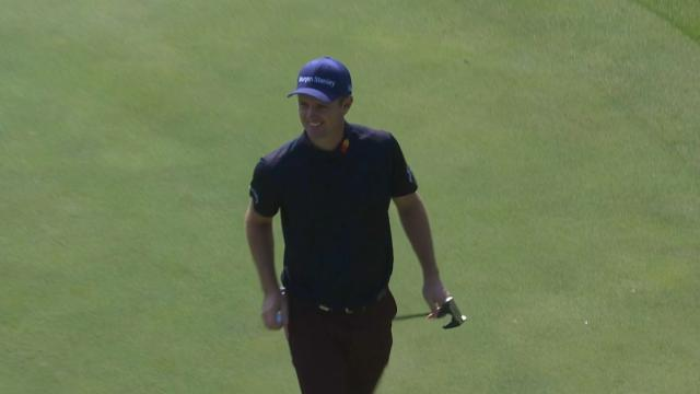 Justin Rose's par-saving putt on No. 10 at WGC-HSBC Champions