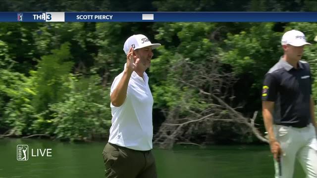 Scott Piercy's 22-foot birdie putt at Charles Schwab