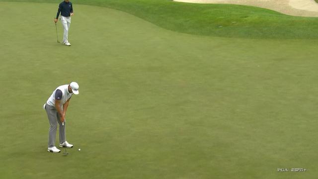 Dustin Johnson's 36-foot birdie putt at PGA Championship