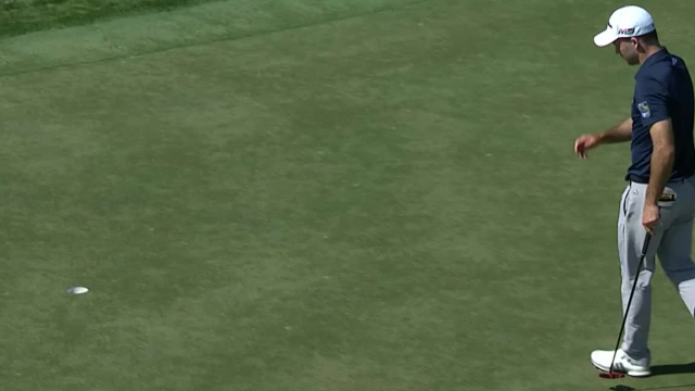 Nick Taylor rolls in 15-footer for birdie at Honda