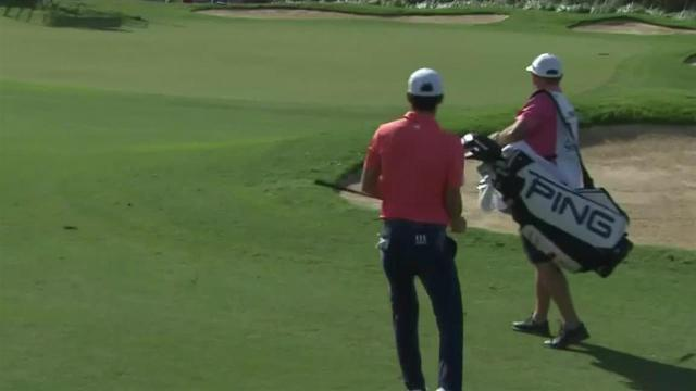 Joaquin Niemann chips it tight to set up birdie at Sentry