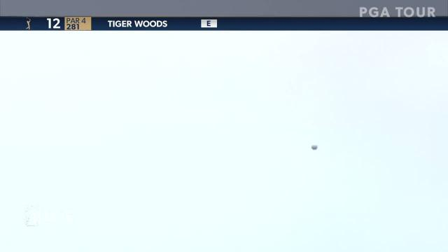 Tiger Woods birdies No. 12 at THE PLAYERS