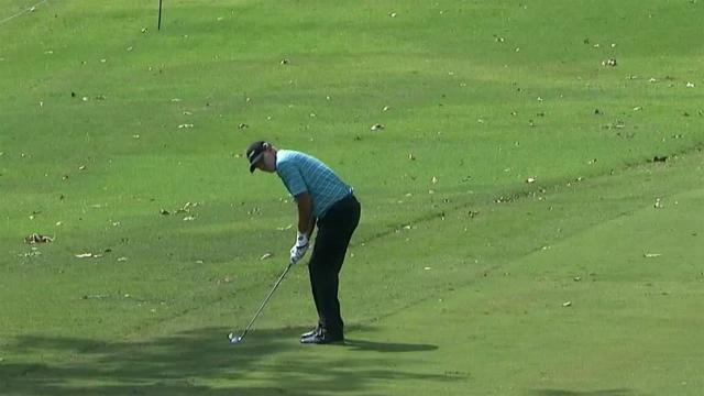Tommy Gainey's near-eagle approach at Sanderson Farms
