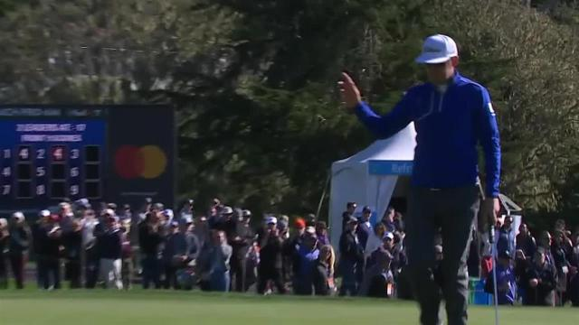 Lanto Griffin sinks a 47-foot birdie on No. 3 at AT&T Pebble Beach