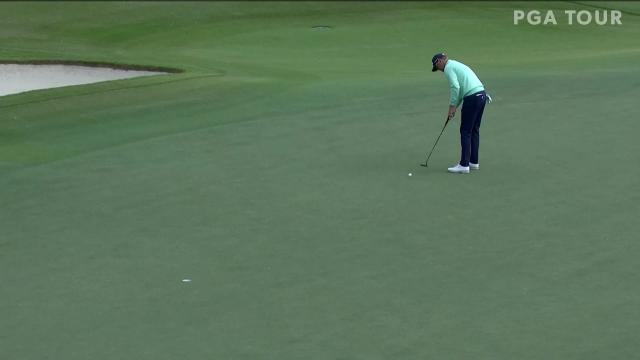 Patton Kizzire sinks a 25-foot birdie on No. 13 in Round 1 at The RSM Classic