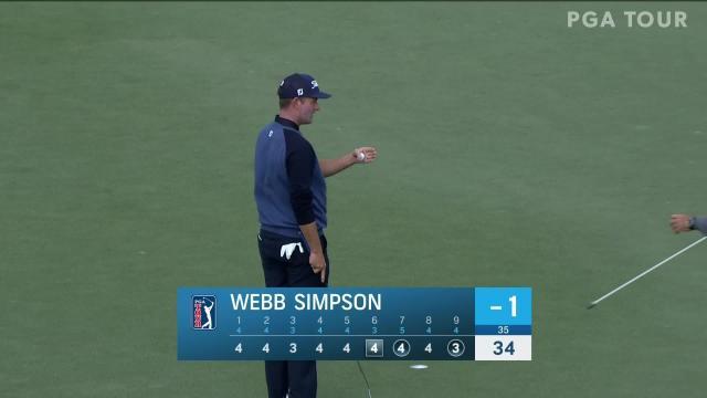 Webb Simpson birdies No. 9 in Round 1 at The RSM Classic