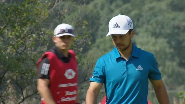 Xander Schauffele's lengthy birdie putt at WGC-HSBC Champions
