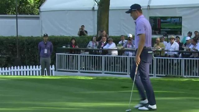 Justin Thomas' approach to 9 feet leads to birdie at WGC-Mexico