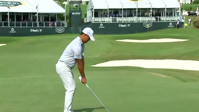 Si Woo Kim sticks approach to set up birdie at Sanderson Farms