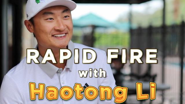 Rapid Fire with HaoTong Li