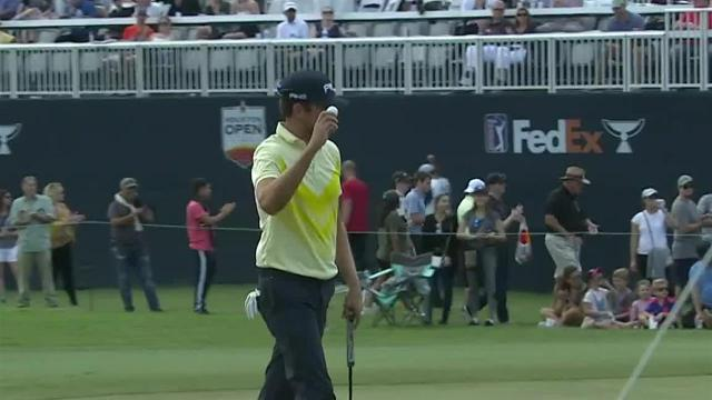 Scott Harrington nearly aces No. 16 at Houston Open