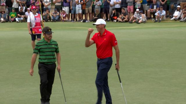 Matt Kuchar's birdie to win hole and secure victory for U.S. in Presidents Cup
