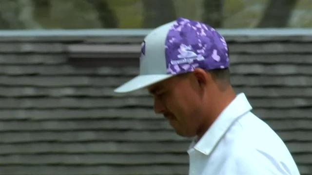 Rickie Fowler sinks a 70-foot birdie putt at Arnold Palmer