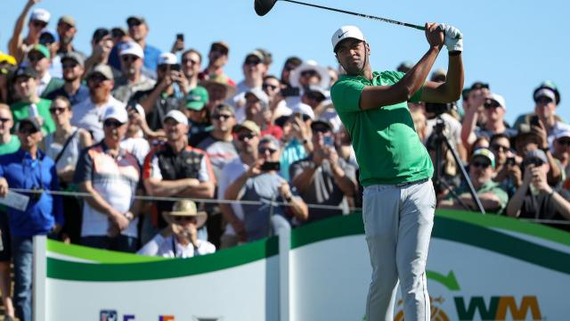 Tony Finau grabs 54-hole lead at Waste Management