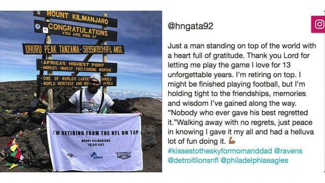 From high atop Kilimanjaro, Haloti Ngata retires
