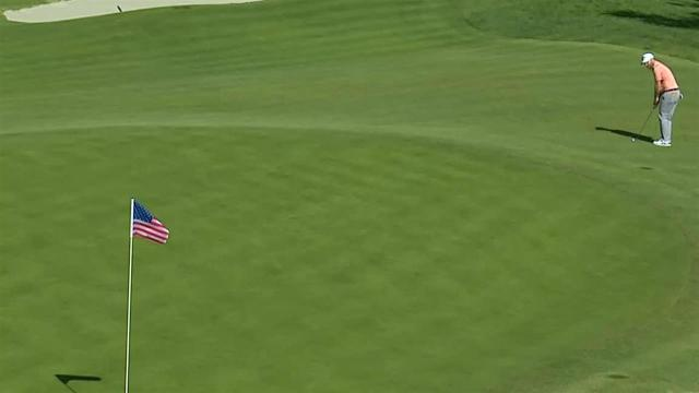 Branden Grace chips in for birdie at Genesis