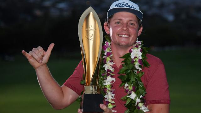 Cameron Smith wins in a playoff at the Sony Open
