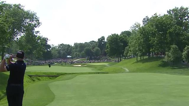 Patrick Cantlay's stellar second leads to birdie at the Memorial