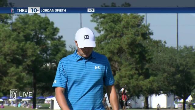 Jordan Spieth makes birdie on No. 1 in Round 2 at Vivint Houston Open