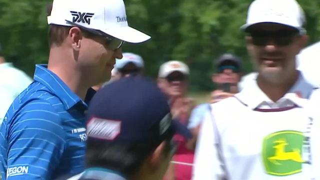 Zach Johnson's 36-foot birdie putt at John Deere
