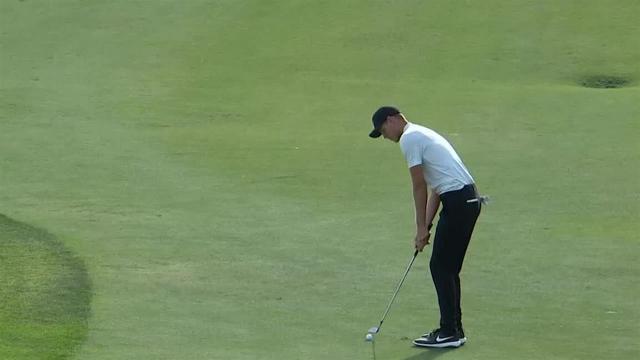 Cameron Davis' eagle on No. 18 at Honda