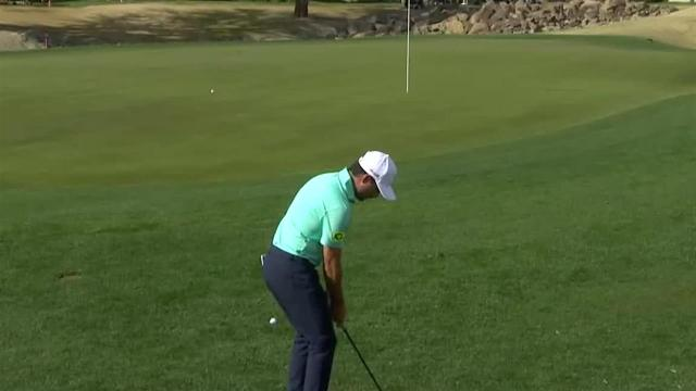 Abraham Ancer gets up-and-down for birdie at The American Express
