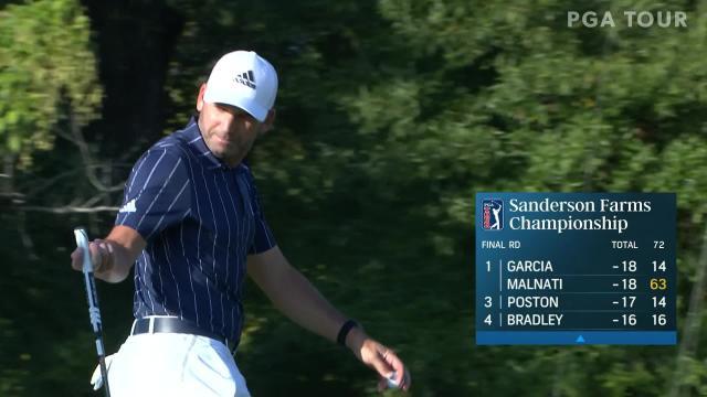 PGA TOUR   Sergio Garcia makes eagle on No. 14 in Round 4 at Sanderson Farms
