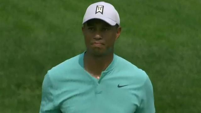 Tiger Woods yields birdie after impressive second shot at the Memorial