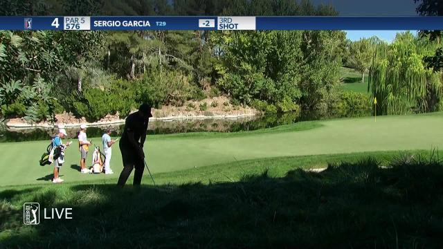 Sergio Garcia chips it tight to set up birdie at THE CJ CUP