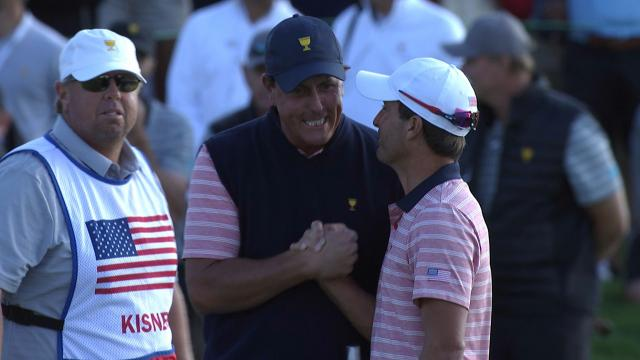 Phil Mickelson's career highlights at the Presidents Cup