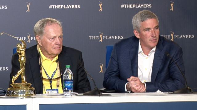 Commissioner Monahan and Jack Nicklaus announcement at THE PLAYERS