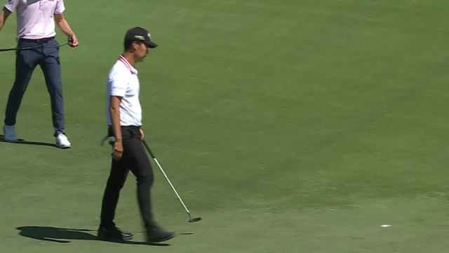 Kevin Na's lengthy birdie putt at AT&T Byron Nelson